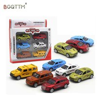 Wholesale hot wheels mini cars - 6PCS HOT 1:64 Alloy Model Slide Car Toys For Kids Mini Metal Toy Car Set Boys Wheels Cars Wheels A Set Best High Quality Gifts