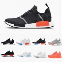 huge selection of 17e35 314c1 2018 R1 Schuhe Herren Schuhe OG Japan Triple s Schwarz Weiß solar Red Tri- Color Grau Männer Frauen Primeknit Casual Sneakers Größe 5-11