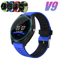 Wholesale smart watch sync android phone for sale – best New V9 Bluetooth Smart Watch Sports Wirstwatch With Camera Slot Call Sync GPS Support SIM TF Card Wearable Devices For Android Phone