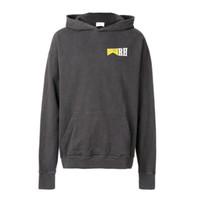 koyu gri hoodie toptan satış-18FW RHUDE Koyu Gri Hoodies Moda do old Kapşonlu Kazak Kazak Sokak Rahat Kazak HFLSWY181