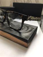 korrekturgläser großhandel-Neue Vintage Brille Designer CHR Brille Rezept Steampunk kleinen Rahmen Stil Männer Marke ransparent Linse klar Schutz Eyeweara
