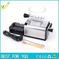 Wholesale new electric cigarette rolling machines resale online - New Hot Large scale automatic electric cigarette machine with built in grinder function cigarette rolling machine