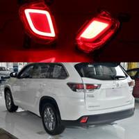 lumières de montagne achat en gros de-Pour Toyota Highlander Kluger XU50 2014 2015 2016 voiture feu antibrouillard arrière feux diurnes clignotants feu stop