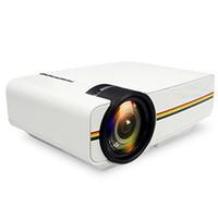 mini dijital ekran toptan satış-Mini Projektör 4 k dijital Kablolu Sync Ekran YG400 Ev Sineması Film AC3 WIFI Beamer daha istikrarlı HDMI VGA USB