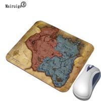 ingrosso tappetino di gomma del panno-Mairuige 22x18 25x20 29x25cm Gioco Mappa Mouse pad personalizzato Gomma + panno Notebook rettangolo Pad Home Decor Giallo Art Desktop Pa