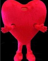ingrosso costumi di compleanno per adulti-2018 NUOVA VENDITA CALDA Pure Love Red Heart Costume della mascotte Formato adulto Romantico San Valentino Festa di compleanno Carnevale Mascotte Outfit Suit