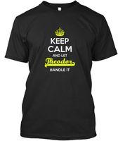 auto-marken-t-shirts großhandel-Theodor Keep Calm Let Griff T-Shirt Elegant T-Shirt Auto-Styling Marke Kleidung Baumwolle Crewneck 3XL Kurzarm Benutzerdefinierte T-Shirts