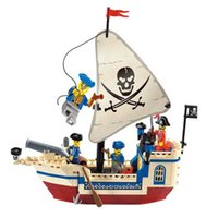 Wholesale toys pirate caribbean - Bricks Mingzhu Pirates Of Caribbean Pirate Ship Building Blocks Compatible With Brand Christmas Toys Gifts For Kids