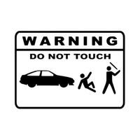 Discount mark stickers - 15.4CM10.9CM Warning Mark DO NOT TOUCH Car Sticker Motorcycle SUVs Bumper Window Car Stylings Vinyl Decoration