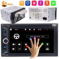 Wholesale build car console - WINCE Double DIN Car headunit Electronics car DVD CD P Video music Player Bluetooth center console GPS Navigation Stereo Radio PC