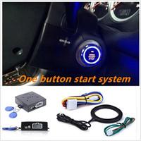 araba alarmı marş sistemleri toptan satış-Oto Araba Alarmı Motor Yıldız hattı Push Button Başlat Durdur Güvenli Kilit Kontak Anahtarı Anahtarsız giriş Marş Anti-hırsızlık Sistemi 2 yollu