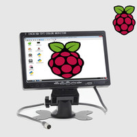 Wholesale rearview monitor screen for car online - 7 Inch HDMI VGA AV LCD Screen For Raspberry Pi Banana Pi Pro SLR Camera V V Car Rearview Monitor With Speaker