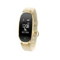 kızlar için akıllı saatler toptan satış-2018 Yeni S3 Akıllı İzle Moda Spor Bluetooth Akıllı Bileklik Telefonu Akıllı Saat Kadınlar Için Kalp Hızı Monitörü Smartwatch Kız