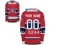 Wholesale Cotton Mens Shirt - stitched Montreal canadians blank customized mens womens kids ice hockey jersey put your name and number hockey shirt epacket free shiping
