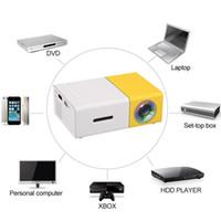 Wholesale mini laptop video resale online - YG300 Portable LED Projector Cinema Theater PC Laptop USB SD AV HDMI Input Mini Pocket Projector ship DHL