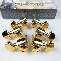gold-gitarren-stimmzapfen maschinenköpfe groihandel-Grover Gold E-Gitarren Mechaniken Tuner Gold Stimmwirbel (mit Verpackung)