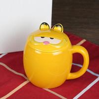 Wholesale Garfield Cartoon - 450ml Capacity New Bone China Ceramic Mug Garfield Coffee Mug
