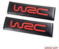 Wholesale wrc car style for sale - Car Accessories Shouder Pads Carbon Fiber Safety Belt Cover for WRC Racing Seat Belt Cover Car Styling