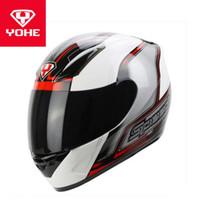 o capacete completo venda por atacado-2018 Inverno Novo ECE-R22 / 5 Certificação YOHE Rosto Cheio Capacete Da Motocicleta VELOCIDADE YH-991 Capacetes de Moto de ABS e viseira da Lente PC