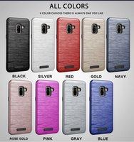 ingrosso caso metallico apple iphone-Cover in metallo metallizzato effetto lucido metallizzato per iPhone Iphone x 8 7 6 Plus Custodia per Samsung Galaxy s9 s8 Plus