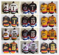 35ae3462ed6 Vancouver Canucks Jersey Ice Hockey CCM Old Time 1 Kirk McLean 10 Pavel  Bure 16 Trevor Linden