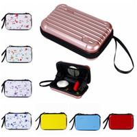 Wholesale organizers for suitcases - Portable Mini Make-up Cases 28 Styles Cosmetics Travel Organizer Bags for Women Zipper Makeup Suitcase Mini Luggage Case 30pcs LJJO4532