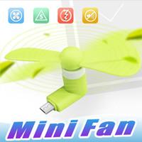 fans c al por mayor-Mini Ventilador Micro USB Ventilador Enfriador Portátil Ventilador de Enfriamiento Teléfono Móvil Ventilador Celular USB Para tipo-c micro USB Accesorios para Teléfonos Celulares