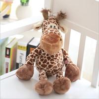 ingrosso grandi giraffe-Carino 23 centimetri grande NICI giraffa bella peluche bambola di cervo farcito giocattoli per i bambini regali di natale