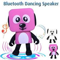 robôs de passeio de brinquedo venda por atacado-2018 cão de dança bluetooth alto-falantes portáteis estéreo eletrônico mini robô eletrônico falante eletrônico toys com música sem fio speaker toy