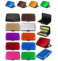 Wholesale Friendly Cards Case - Aluminum ID Credit Card Wallet Holder Antimagnetic Waterproof Aluminum Cards Holder Pocket Wallet Holder Pocket Case 400pcs