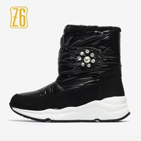 Wholesale Russian Boots - Z6 Women Winter BootsPearls Warm Russian Style 2018 New Brand Snow Boots # HW971-1