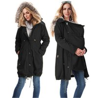 Wholesale maternity clothes online - 2018 Maternity Coat Jacket kangaroo Outfit Spring Autumn Clothes Mother Fur Outwear Pregnant woman With Baby Carrier Coat C27