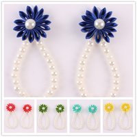 Wholesale pearl toe ring for sale - Group buy New Arrival kids Flower Sandals Simulated Pearl Anklets baby Barefoot Sandals Baby Girls Foot Band Toe Rings Foot ornament KFA43