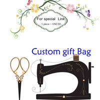 custom link linen bag cotton pouch print buyer logo or store name