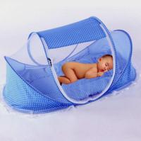 ingrosso set da letto per neonati-New Baby Crib 0-3 anni Baby Bedding Zanzariera portatile pieghevole culla Culla Zanzariera in cotone Sleep Travel Bed Set