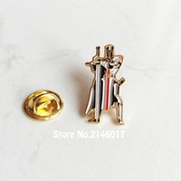 alfiler de albañil al por mayor-10 unids Masones Libres Pins Insignia Metal Craft Caballeros Masónicos Templario Sello Cruzados Solomones Templo Solapa Pin Broche Guardia Espada