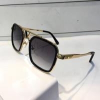 Wholesale logo resale online - Luxury Sunglasses For Men Retro Vintage Z0947 Designer Sunglasses Shiny Gold Summer Style Laser Logo Gold Plated With Case
