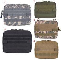 bolsas médicas al aire libre al por mayor-5 colores al aire libre Militar MOLLE Admin bolsa táctica bolsa Multi Medical Kit bolsa bolsa de utilidad bolsa de caza que acampa al aire libre CCA10374 30pcs