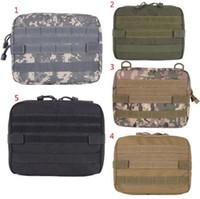ingrosso borse tattiche-5 colori Outdoor Militare MOLLE Admin Pouch Tactical Pouch Multi Kit medico Borsa Utility Pouch Outdoor Camping Caccia Borsa CCA10374 30 pz