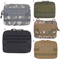 Wholesale utility pouches tactical for sale - 5 Colors Outdoor Military MOLLE Admin Pouch Tactical Pouch Multi Medical Kit Bag Utility Pouch Outdoor Camping Hunting Bag CCA10374