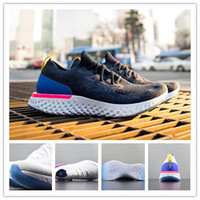 Wholesale comfortable running shoes - 2018 Top Epic React Instant Go Fly Breath Comfortable Sport Boost Size Mens Running Shoes For Sale Women Athletic Sneakers