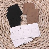 ingrosso tag di visualizzazione dei gioielli-Commercio all'ingrosso! 1500pcs / lot 3 colori fatti a mano fai da te Kraft carta orecchino gioielli Display Card Making Accessori Etichetta Tag 3.8x4.7 cm