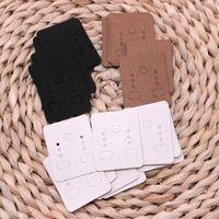 etiquetas etiquetas hechas a mano al por mayor-Venta al por mayor! 1500 unids / lote 3 colores hechos a mano DIY Kraft Pendiente de papel Exhibición de la joyería Tarjeta de presentación de accesorios Etiqueta de etiqueta 3.8x4.7 cm