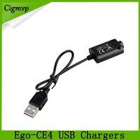 cargadores de cigarrillos electronicos ce4 al por mayor-Ego-CE4 cigarrillo electrónico cargadores USB para ego / ego-T / Ego-K Joye 510 E cigarrillo por DHL libre