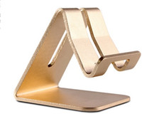 Wholesale mobile stand for laptop - 2018 Universal Mobile Phone Tablet Desk Holder Luxury Aluminum Metal Stand For iPhone iPad Mini Samsung Smartphone Tablets Laptop
