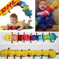 Wholesale Musical Inchworm Plush Soft Toys - 2017 Hot Musical Inchworm Soft Lovely Developmental Baby Toy Popular and Colorful Stuffed Plush Soft Sound Paper