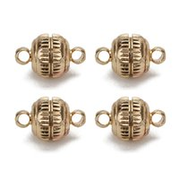 magnetische armbänder halsketten großhandel-Xinyao Starke Kupfer Magnetische Spangen Ball Diy Für Halskette Armband, 8mm Dia Gold Gunblack Runde Haken Schmuck Erkenntnisse