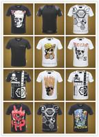 Wholesale mens patterned tees - Skull & Snake Diamond Printed Mens T-Shirts 3D Animal Pattern Male T Shirts Fashion Short Sleeve 2018 Summer Clothing Mens Tee Shirts