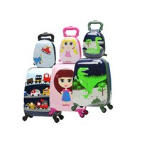 ingrosso bagagli da 18 pollici-Cute Cartoon Bambini Rolling Luggage Set Spinner Valigia Ruote Studenti 18/20 pollici Carry on Trolley Kid / Girl / Boy borsa da viaggio