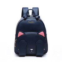 Wholesale Embroidery Dress Shop - duolaimi brand cute cat character appliques rucksack hotsale women embroidery shopping bags ladies preppy style student backpack